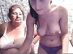 Huge-titted Teenager & Grandma On Webcam