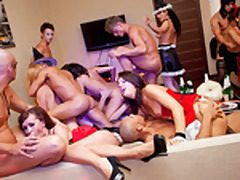 Halloween theme fuck-a-thon party in full sway
