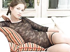 Solo teenage mega-slut fellating and frolicking w faux-cock
