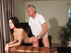 Old and Young Pornography - Babysitter pussy romped by old man