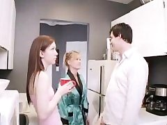 Teenager public toilet pee Janine tearing up an older dude