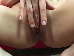 Lean fuckslut has her cock-squeezing cunny annihilated