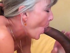 Grey haired granny likes big black cock