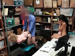 Bonnie Grey and Maya Bijou stretched her gams to fuck hard