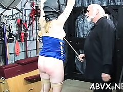 Flaming stripped spanking and extraordinary thraldom porn