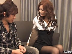 Japanese housewife, Erena is cuckold and having hardcore se
