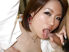 Promiscuous chick, Miki Uemura is regularly cheating on her boyfriend