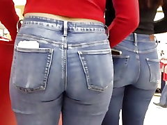 Teen backside in denim