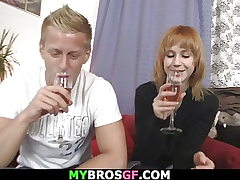 His foxy-haired girlfriend shared with friend