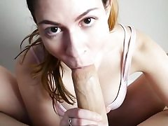 Footjob pov oral pleasure in front of web cam by a sexy babe