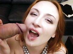 Beautiful red-haired babe in hardcore cumpilation