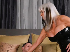 Blonde cougar ravaged