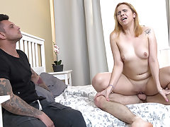 Sandy-Haired gf drill for rent cash